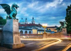 Ponte dei draghi a Lubiana, Slovenia