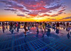 Il saluto al sole a Zara, Croazia
